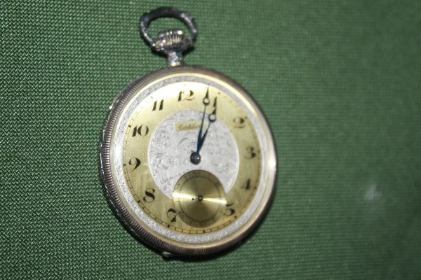 Very thin vintage Swiss made 900 silver case pocket watch by Cortébert