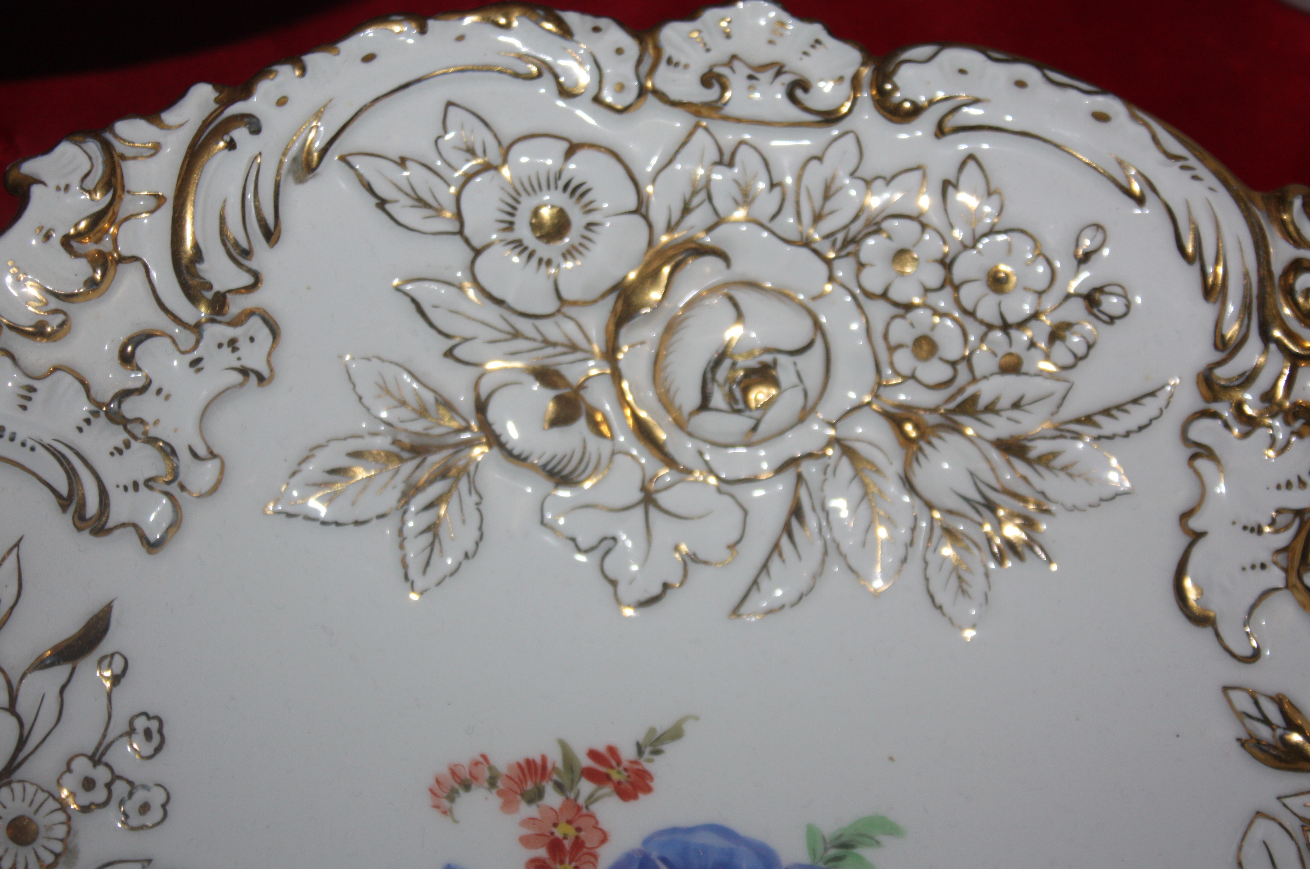 Beautiful 20th Century Queen Anne Style Wall Mirror