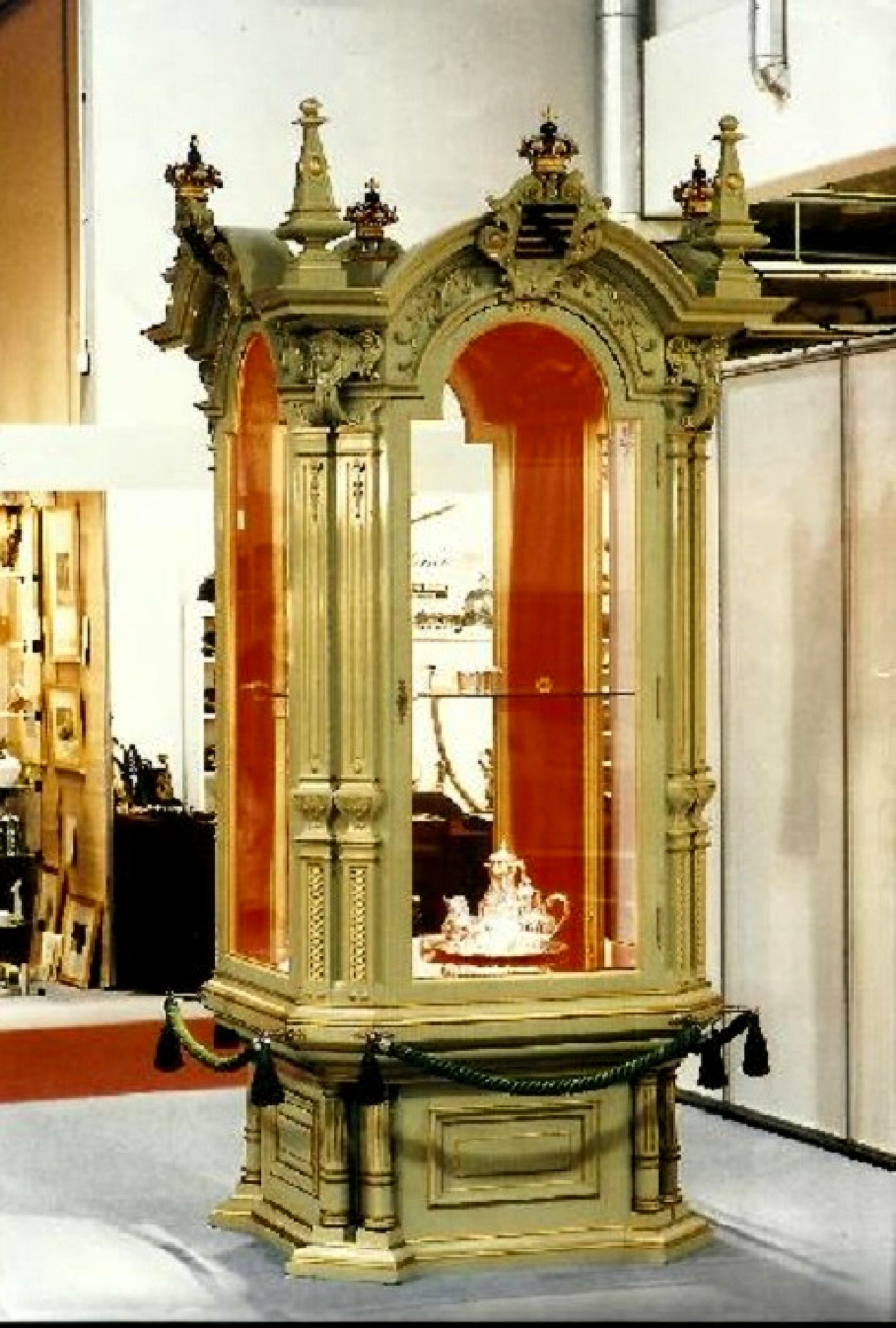 antique exhibition cabinet Markneukirchen, Saxony, Germany